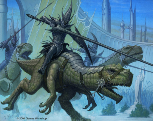 Games Workshop Cold Ones CCG Warhammer Knight dinosaur