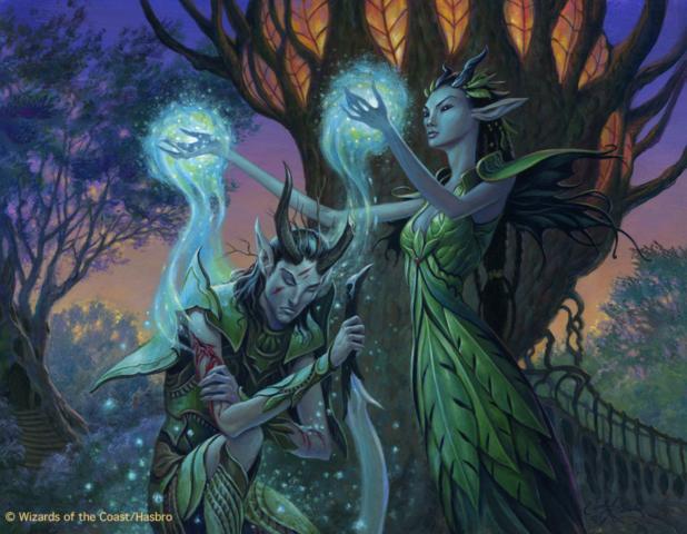 M:TG Magic CCG Elves Elf Heal the Scars