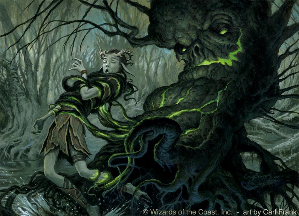 M:TG Magic Tree Fantasy Elf Cankerous Thirst