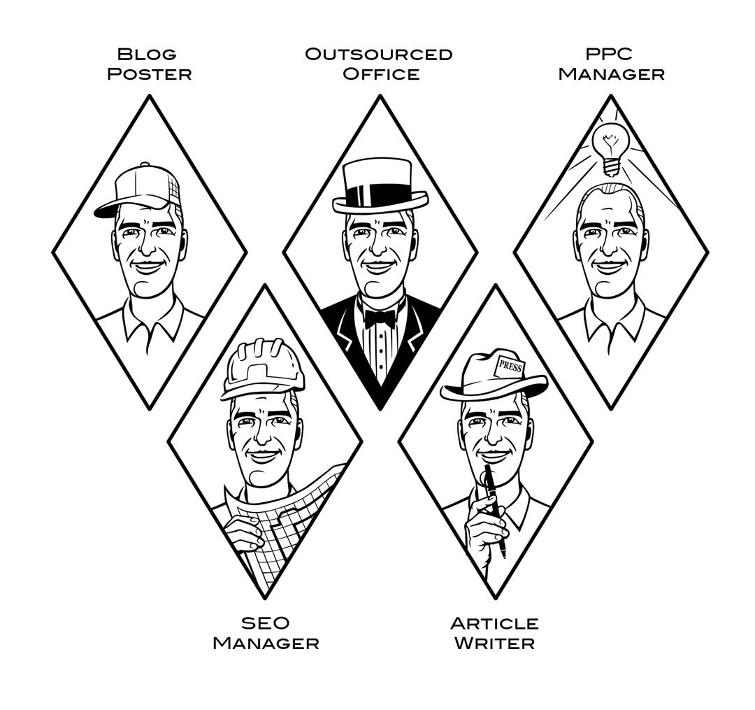 vector Adobe Illustrator roles caricature