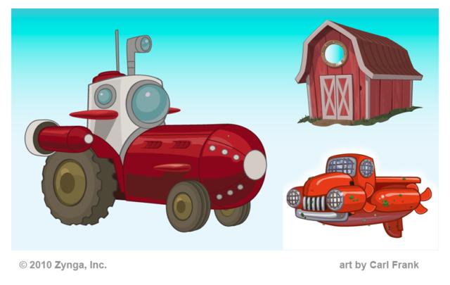 Concept assets Adobe Illustrator farm underwater submarine tractor pickup barn