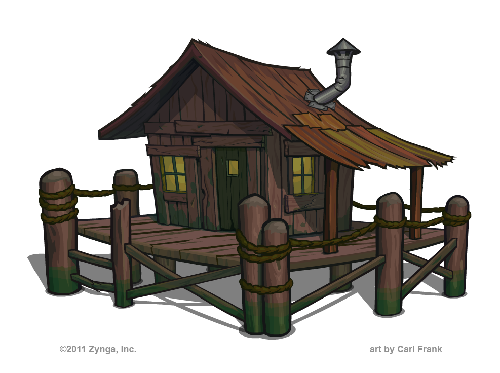 swamp shack adobe illustrator illustration
