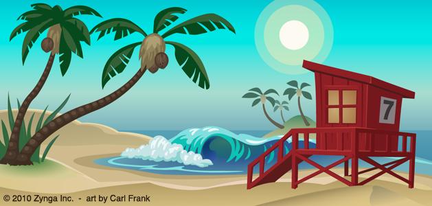 Adobe Illustrator beach vector illustration